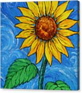 A Sunflower Canvas Print