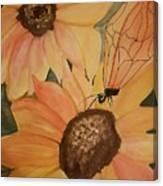 A Sunflower Surprise Canvas Print