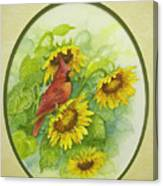 A Sunny Garden Spot Canvas Print