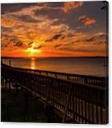 A Sunset At Spanish Wells Canvas Print