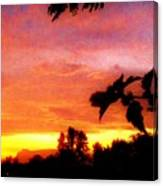 A Sunset With A Different Mood Canvas Print