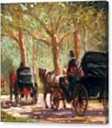 A Surrey Ride In Central Park Canvas Print