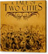 A Tale Of Two Cities Book Cover Movie Poster Art 1 Canvas Print