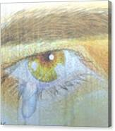 A Teardrop Kissed... Canvas Print
