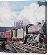 A 'thompson' B1 Class Moving Empty Stock On A Cold February Morning Canvas Print