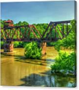 A Time Gone By Railroad Bridge Lumber City Georgia Canvas Print