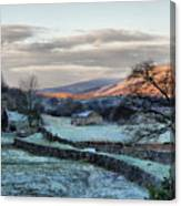 A Touch Of Frost In Swaledale Canvas Print