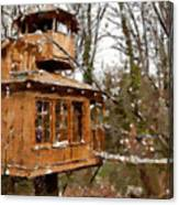 A Treehouse For All Seasons Canvas Print