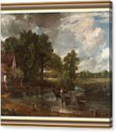 A Tribute To John Constable Catus 1 No. 1 -the Hay Wain L B With Alt. Decorative Ornate Frame. Canvas Print