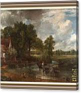 A Tribute To John Constable Catus 1 No.1 - The Hay Wain L A  With Alt. Decorative Ornate Printed Fr  Canvas Print