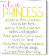 A True Princess Does Her Best Canvas Print