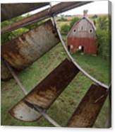 A Turn-of-the-century Peg Barn As Seen Canvas Print