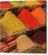 A Typical Set Of Shops In Istanbul Spice Market Canvas Print