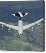 A U.s. Air Force E-3 Sentry Airborne Canvas Print