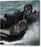 A U.s. Navy Landing Craft Air Cushion Canvas Print