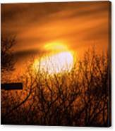A Vague Sun Canvas Print