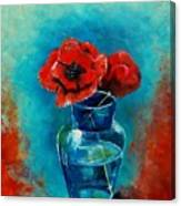 A Vase With Poppies  Canvas Print