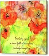 A Vaseful Of Sunshine Canvas Print