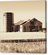 A Very Old Barn And Silo Canvas Print