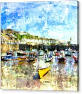 Porthleven - A View Across The Harbour Canvas Print