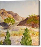 A View At Red Rock Canvas Print
