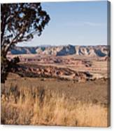 A View Down Into The Canyon That Forms Canvas Print