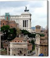 A View From Palatine Hill In Rome Italy Canvas Print