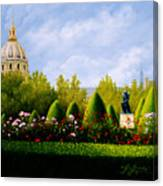 A View from Rodins Garden Paris, France Canvas Print