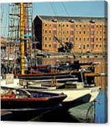 A View From The Docks Canvas Print