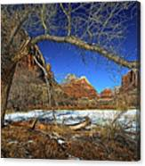 A View In Zion Canvas Print