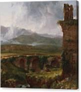 A View Near Tivoli  Canvas Print