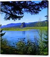 A View Of Beacon Rock Canvas Print