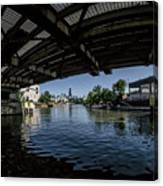 A View Of Chicago From Under The Division Street Bridge Canvas Print