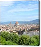 A View Of Florence Canvas Print