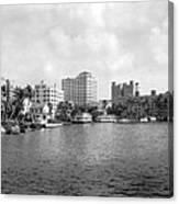 A View Of Miami Canvas Print