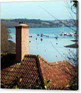 A View Of Mylor Harbour Canvas Print