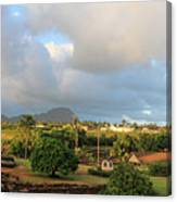 A View Of Prince Kuhio Park Canvas Print