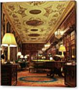 A View Of The Chatsworth House Library, England Canvas Print