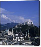 A View Of The City Of Salzburg From An Canvas Print