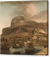 A View Of The Rock Of Gibraltar From The Spanish Lines 1782 Canvas Print