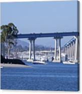 A View Of The South End Of The San Diego-coronado Bridge Canvas Print