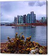 A View Of Vancouver Canvas Print