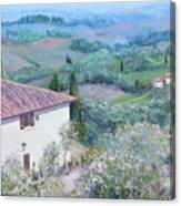 A Villa In Tuscany Canvas Print