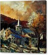 A Village In Autumn Canvas Print