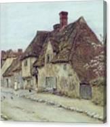 A Village Street Kent Canvas Print