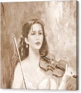 A Violin Girl Canvas Print