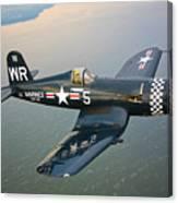 A Vought F4u-5 Corsair In Flight Canvas Print