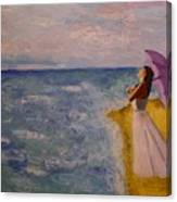 A Walk Along The Beach Canvas Print