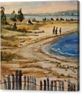 A Walk By The Seashore Canvas Print