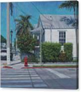 A Walk In Key West Canvas Print